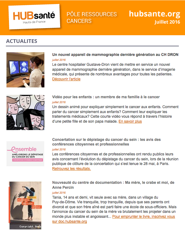 news cancers juillet 2016
