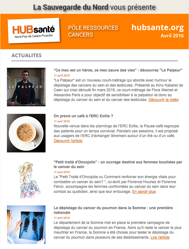 newsletter pole ressources cancers avril 2016