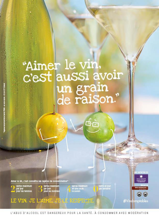 publicité pour du vin blanc