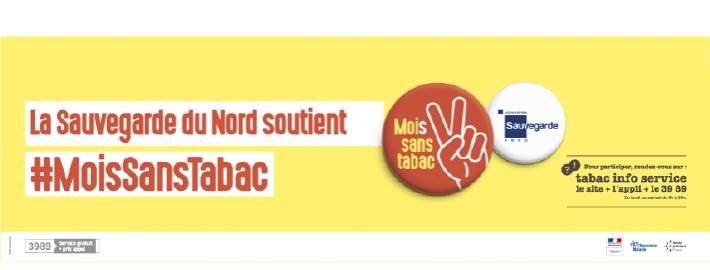 La Sauvegarde du Nord soutient » Moi(s) Sans Tabac «
