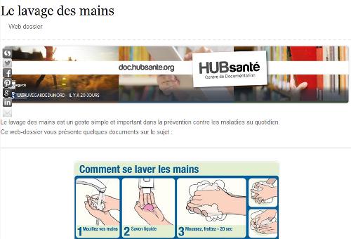 Le lavage des mains : Web dossier