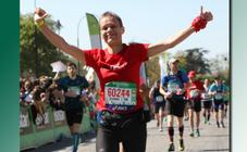 Delphine Delecourt, chargée de mission et formatrice à la Santé, au marathon de Paris