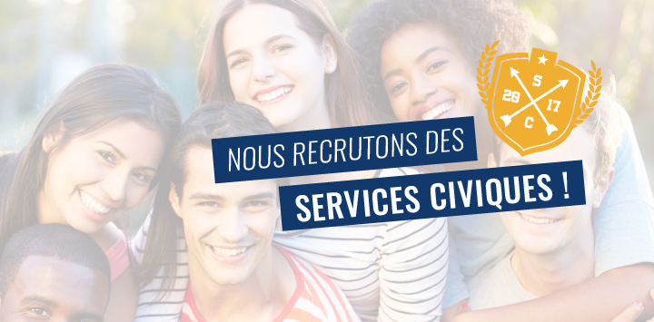63 postes de Service Civique à pourvoir